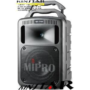 【金聲樂器】MIPRO MA-708 攜帶式 無線擴音機含CD座 附2支無限麥克風