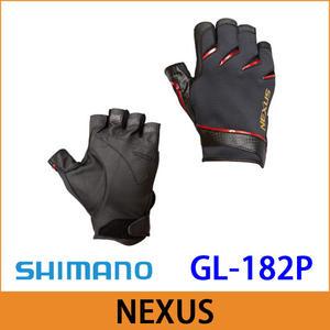 橘子釣具SHIMANO五指釣魚手套 GL-182P #黑色