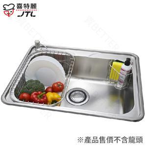 【買BETTER】喜特麗水槽/不鏽鋼水槽/流理台洗碗槽 JT-A6016不鏽鋼水槽(中提籠)★送6期零利率