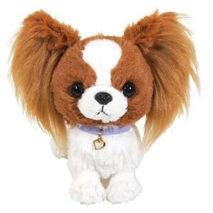 日本PUPS可愛玩偶 蝴蝶犬 仿真小狗 絨毛娃娃毛絨玩具狗聖誕節禮物狗雜貨生日禮物兒童小孩送禮