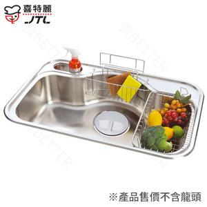 【買BETTER】喜特麗水槽/不鏽鋼水槽/流理台洗碗槽 JT-A6021不鏽鋼水槽(大提籠)★送6期零利率