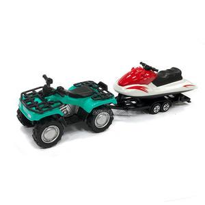 HY ALLOY華一 108G 摩托船/綠 超長型小車 合金模型車 拖車 水上摩托車【楚崴玩具】