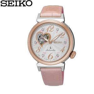 【分期0利率】SEIKO LUKIA 精工錶 林衣晨 玫瑰金皮帶 簍空 開芯面盤 機械錶 全新原廠公司貨 SSA842J1