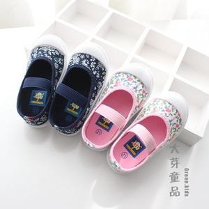 大芽童品 新款春夏兒童寶寶碎花軟底田園童鞋帆布鞋 幼兒園室內鞋幼兒園室內鞋 滿天星