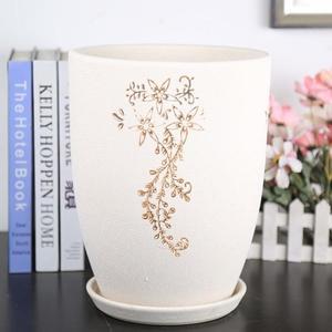 春季上新 珍珠釉圓柱陶瓷花盆現代簡約家居落地大花盆~