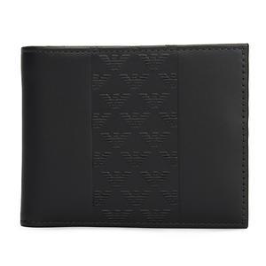EMPORIO ARMANI經典老鷹標誌PVC短夾(黑色)102138