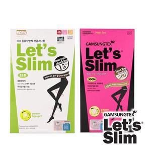 【Let's Slim】15D防勾紗(黑色)+300M壓力加絨提臀瘦腿襪(黑色)(韓國原裝進口)