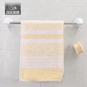 毛巾架單桿吸盤壁掛浴室衛生間不銹鋼304單層掛衣架免打孔 降價兩天