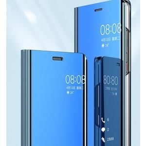 【SZ35】j7 plus手機殼 二代智能顯示電鍍鏡面支架皮套 三星C8手機套 Galaxy A7 2018皮套