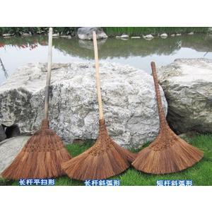 手工掃帚棕絲長柄竹掃把不沾灰防靜電 棕掃把 i萬客居