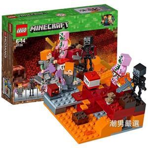 樂高積木樂高我的世界系列21139冥界之爭LEGO積木玩具xw