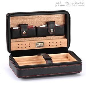 雪茄盒 便攜式雪茄剪打火機古巴雪茄保濕煙盒皮盒進口 【驚喜價格】