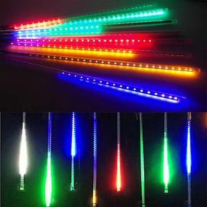 聖誕燈裝飾燈LED流星燈串8條燈(四彩光插電式/單燈長50cm)