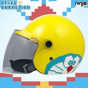 【KK  兒童帽 哆啦A夢 05 小叮噹 黃 兒童 安全帽 】3/4罩、附鏡片