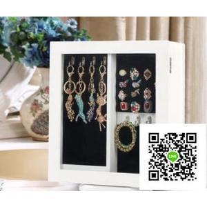360度旋轉木質台式梳妝台鏡子飾品首飾珠寶盒收納展示鏡櫃小鏡櫃  DF  一件免運