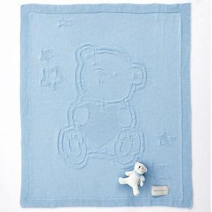 奇哥 布偶熊編織棉毯(藍)~附贈提袋 *2015新款*