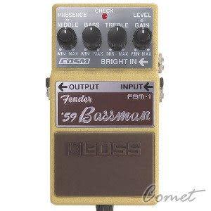 【BOSS效果器】【 BOSS FBM-1】【模擬FENDER 音箱】【'59 Bassman Fender 經典音箱】