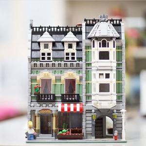 樂拼積木街景系列兼容樂高拼裝積木玩具