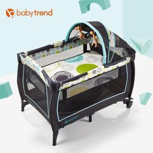 嬰兒床寶寶嬰兒床新生兒可摺疊便攜式多功能搖籃床遊戲床 小明同學NMS