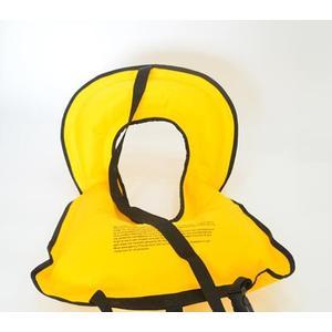 便攜式戶外充氣救生衣成人大浮力漂流背心浮潛兒童備口吹氣航空衣  橙子