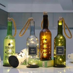 工藝切割玻璃瓶創意發光紅酒瓶