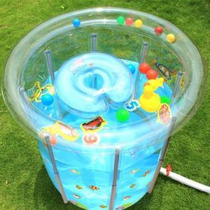 小游泳池 諾澳嬰兒游泳池家用新生幼兒童寶寶充氣保溫透明支架游泳池洗澡桶WD 電購3C
