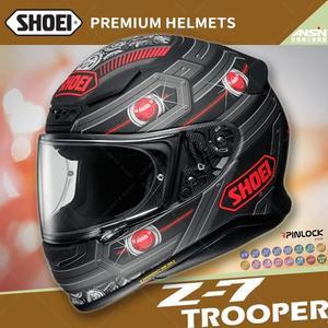 [中壢安信]日本 SHOEI Z-7 彩繪 TROOPER TC-1 紅黑 全罩 安全帽 小帽體