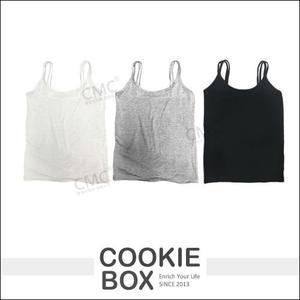 泰國(雙肩)小背心 涼感彈性  黑 灰 白 *餅乾盒子*