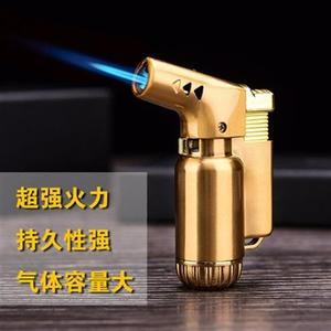 打火機耐高溫金屬創意直沖防風充氣打火機個性噴槍點火器雪茄焊槍打火機
