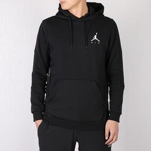 Nike Jordan Fleece Hoodie 黑 白 刷毛 帽T 袖子英文logo 男 939987-010 ☆SP☆