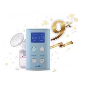 【愛吾兒】Spectra 貝瑞克 9X 攜帶式電動雙邊吸乳器 藍色 9+升級版