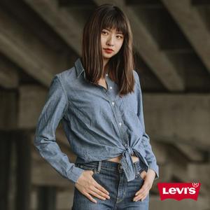 Levis 牛仔襯衫 女裝 / 綁帶下擺