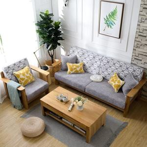 高密度海綿墊定做加厚加硬沙發墊布藝坐墊實木紅木飄窗墊坐椅墊子wy