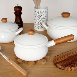 《齊洛瓦鄉村風雜貨》日本zakka雜貨 日本製野田琺瑯牛奶鍋 含蓋子牛奶盅 IH可對應琺瑯小鍋
