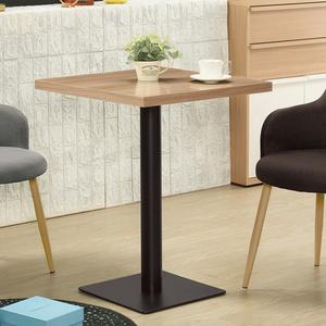 【森可家居】韋伯2尺木面四方餐桌 8ZX957-2 咖啡廳 餐廳 商用桌 木紋質感 黑鐵桌腳