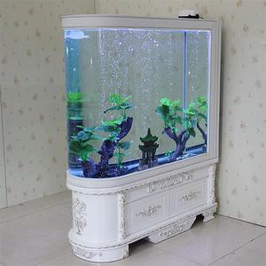 魚缸客廳屏風隔斷家用大型中型生態免換水金魚缸水族箱  NMS 小明同學