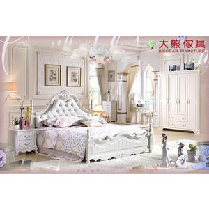 【大熊傢俱】杏之韓 HE6003 韓式 五尺床 鄉村風床架 皮床 歐式雙人床 法式床 床架 公主床 田園風