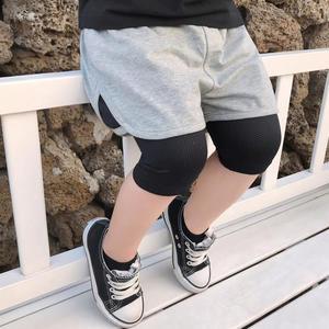 現貨 兒童假兩件運動褲春裝新款男寶寶休閒輕薄七分褲(2-8歲) 褲子 短褲