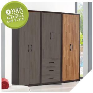 衣櫃【YUDA】亞瑟 2.7尺 柚木集層 雙吊  衣櫃/衣櫥 J8F 024-1