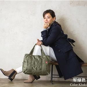 【Sara】 日本樂天熱銷ROSE NOIRE超輕量尼龍防水單肩大背包手提包媽媽包親子包空氣包 三層設計 M號