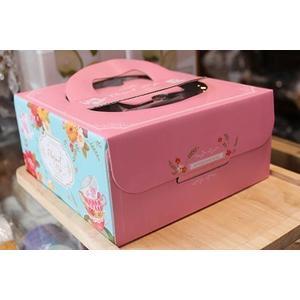 午後饗宴  (附金盤)瓦楞紙手提6吋派盒 蛋糕盒【C032】手提盒 紙盒包裝盒起司蛋糕乳酪盒提拉米蘇