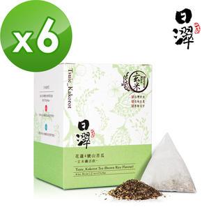 【即期品】【日濢Tsuie】花蓮4號山苦瓜玄米茶(10包/盒)x6盒