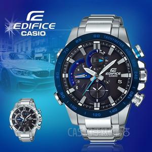 CASIO手錶專賣店 CASIO EDIFICE EQB-800DB-1A 礦物玻璃 藍牙 太陽能不鏽鋼錶帶  男錶 EQB-800DB