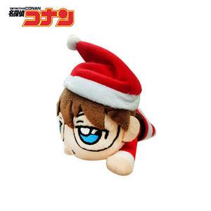 【日本正版】柯南 趴姿造型 玩偶吊飾 聖誕節裝扮 名偵探柯南 絨毛玩偶 吊飾 SEGA - 087427