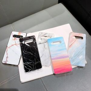三星S10大理石Note8/S10E手機殼 紋理光面S7Edge/Note9/S9保護套