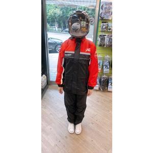天德牌雨衣,R5(背包版)/黑紅