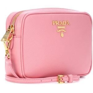 *現貨在台■專櫃5折☆全新真品Prada Camera 迷你 Saffiano 耐刮皮革斜背包 粉色