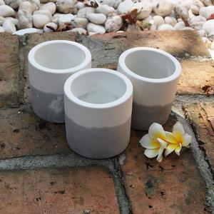(BEAGLE)雙色 圓型創意水泥盆 多肉水泥花器/仙人掌水泥花盆/水泥植栽/水泥盆器