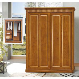 《凱耀家居》楠檜柚木色5X7尺實木衣櫥 110-339-8