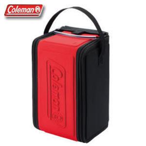 Coleman 營燈收納袋(紅L) 摺疊/防撞 CM-0389J